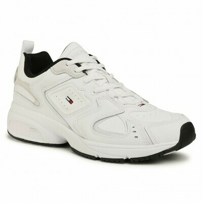 Tommy Jeans Heritage Leather Mix Chunky Trainers