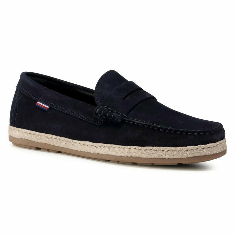 Tommy Hilfiger Suede Espadrille Driving Loafers