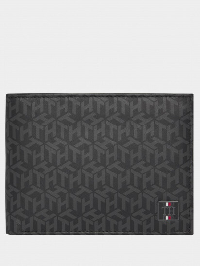 Tommy Hilfiger Monogram Print Leather Wallet