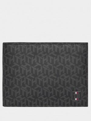 Tommy Hilfiger Monogram Print Leather Wallet