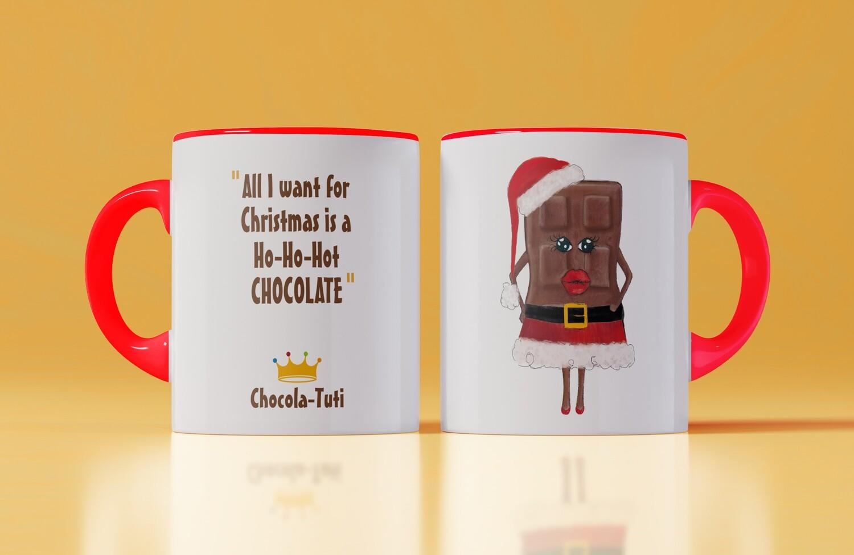 Kerstmok 'All I want for Christmas is a Ho-Ho-Hot chocolate'
