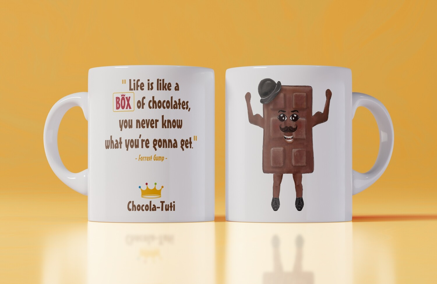 Koffiemok 'Life is a like a box of chocolates, you never know what you're gonna get'