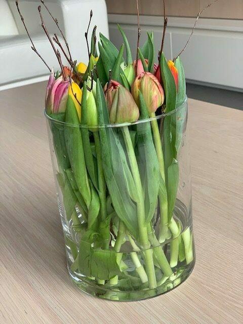 Vaas met tulpen
