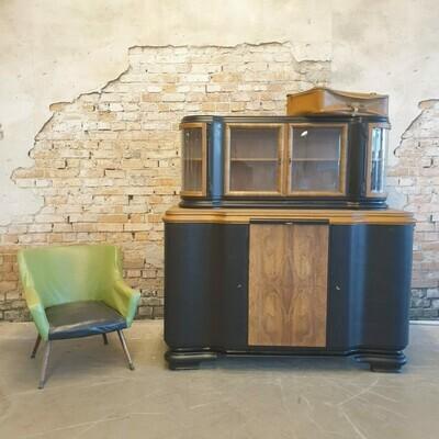 Art Deco Buffetkast Black 1960's  ( gereserveerd)