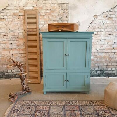 Teakwood vintage green cabinet