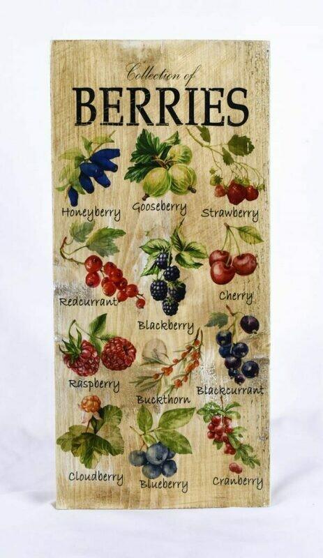 Decoratieplank Berries