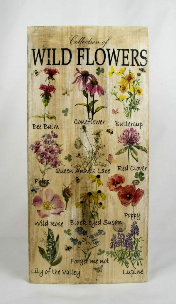 Decoratieplank Wild Flowers