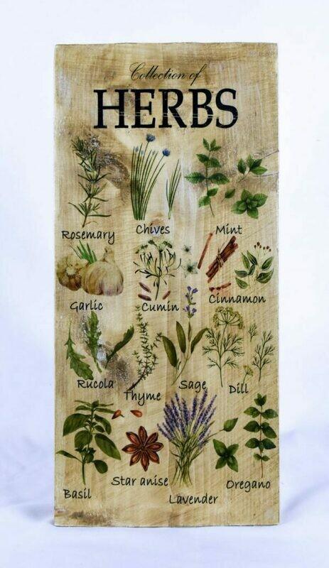 Decoratieplank Herbs