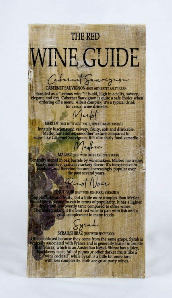Decoratieplank Wijn Rood