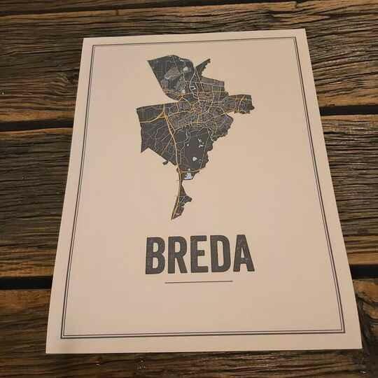 Breda Map Poster Ivoor ( 40 x 60 )