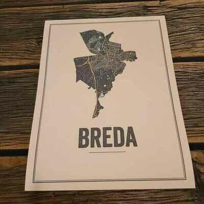 Breda Map Poster Ivoor ( 30 x 40 )