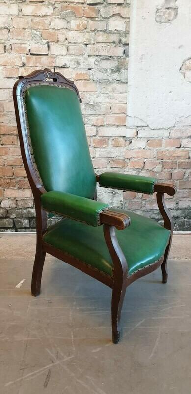 Antieke lederen verstelbare stoel