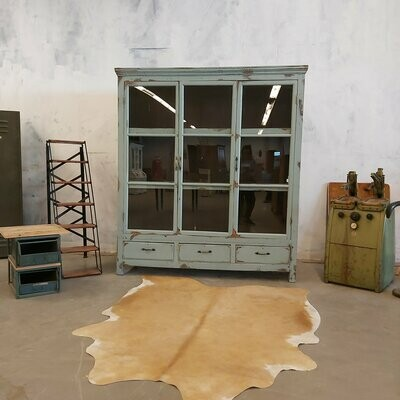 Old characteristic teak display cabinet of about 120 years old.