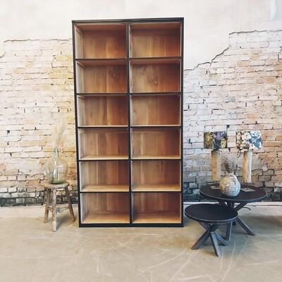 teakwood bookcase black