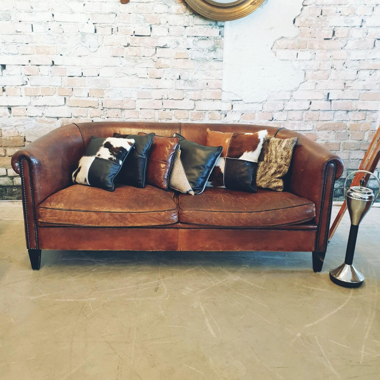 Sheep leather 2 seater sofa