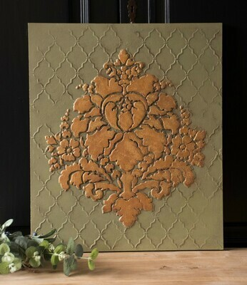 Wall panel damask gold