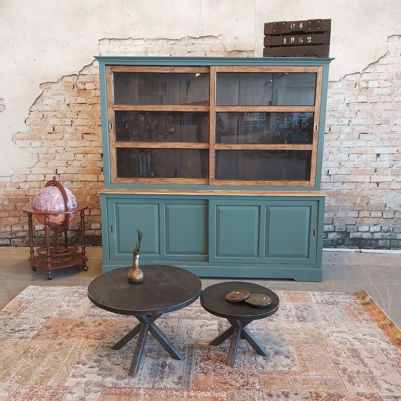 Teakwood buffetkast vintage green