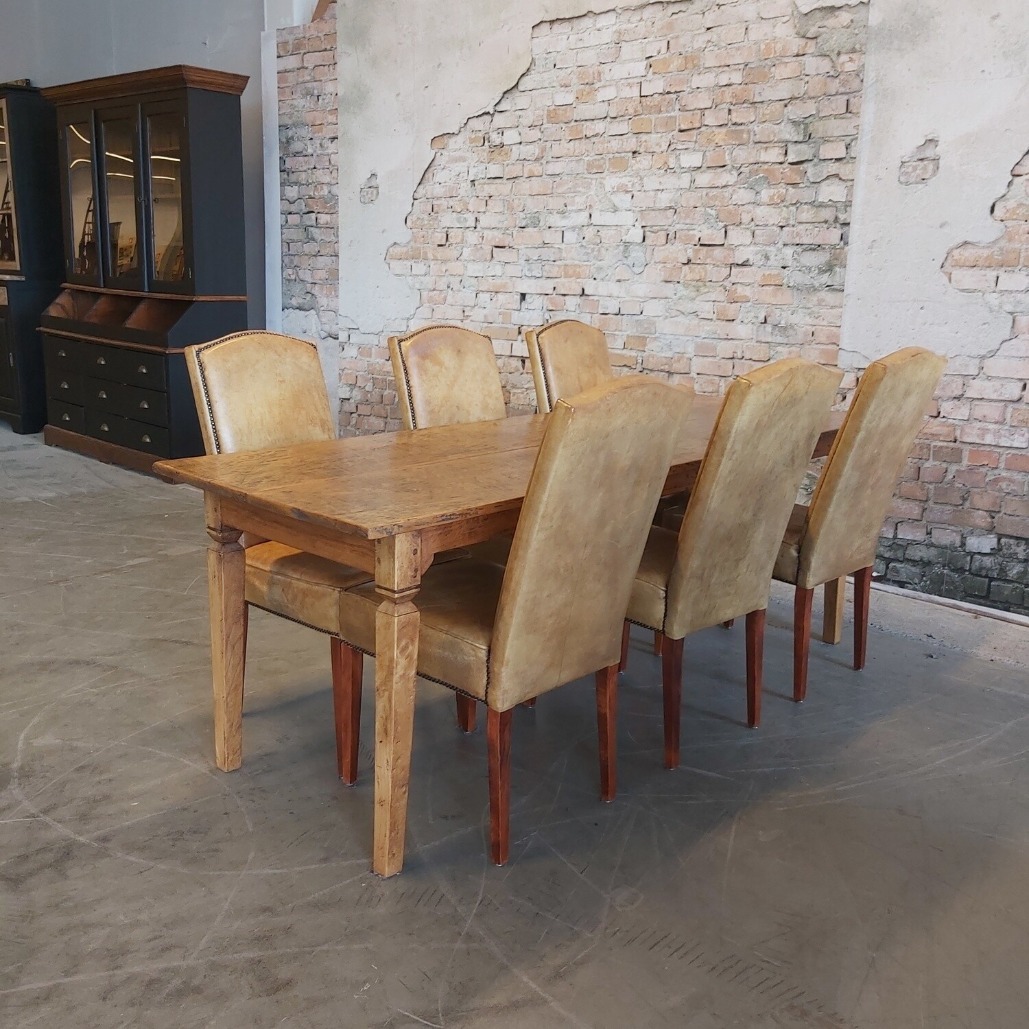 Sheep leather dining room chairs