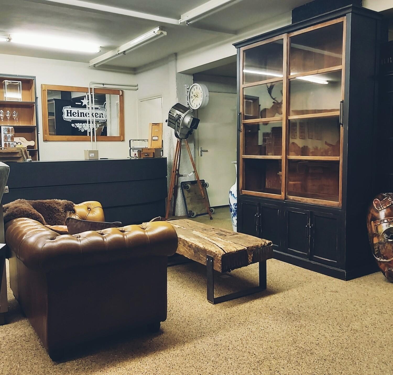 vintage oak sideboard old black