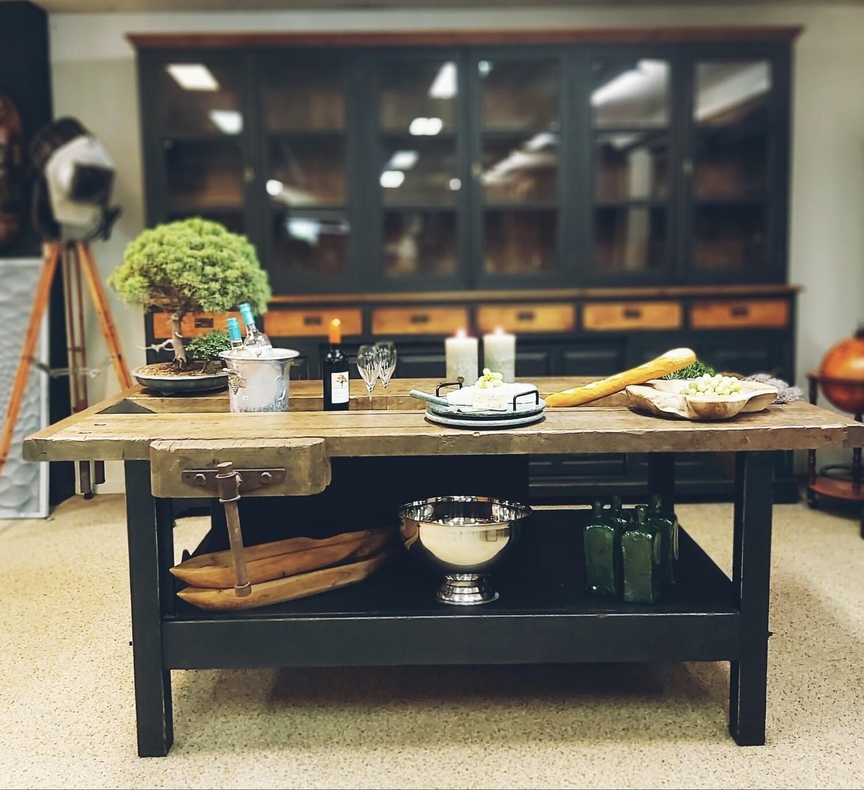 Industrial workbench / wine table