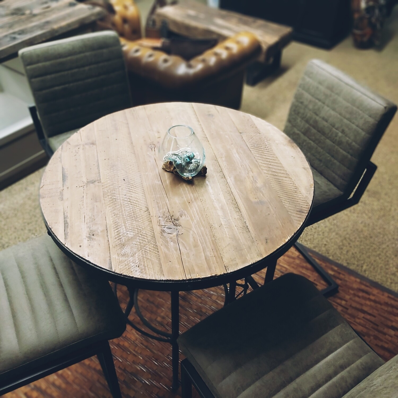 Industrial bar stools vintage green (4 pieces)