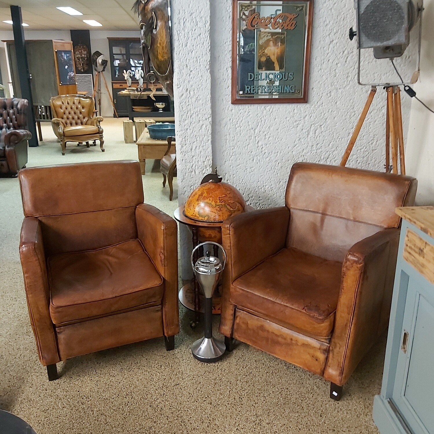 2 Sheep leather chairs