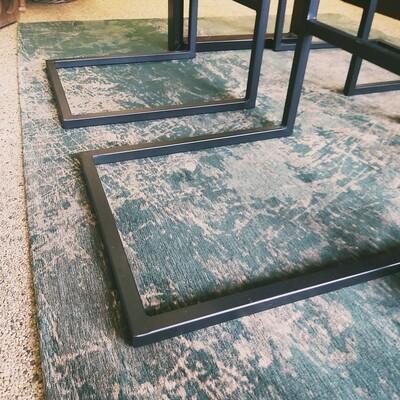 Vloerkleed Flatweave Green 170 x 240