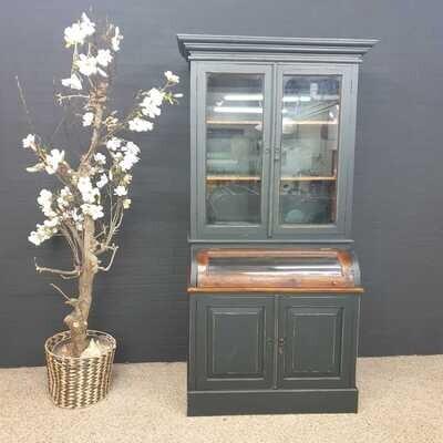 """Teakwood Grutters cupboard / Buffet cupboard -'Canal green"""""""
