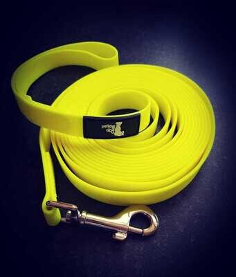 Yellow Dog BioThane training lead – 5 metres long with hand loop