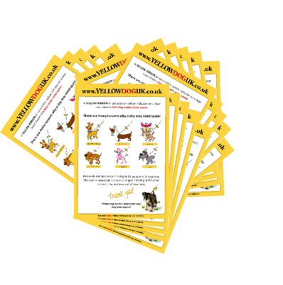 100 Yellow Dog UK Leaflets