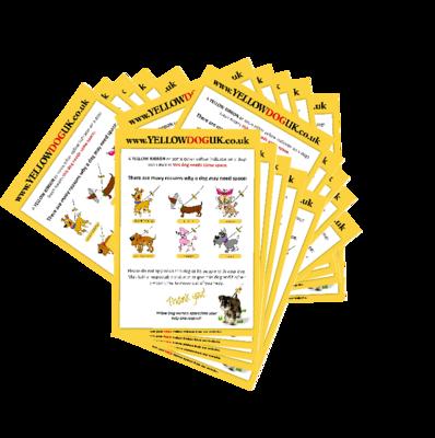 100 Yellow Dog UK Leaflets