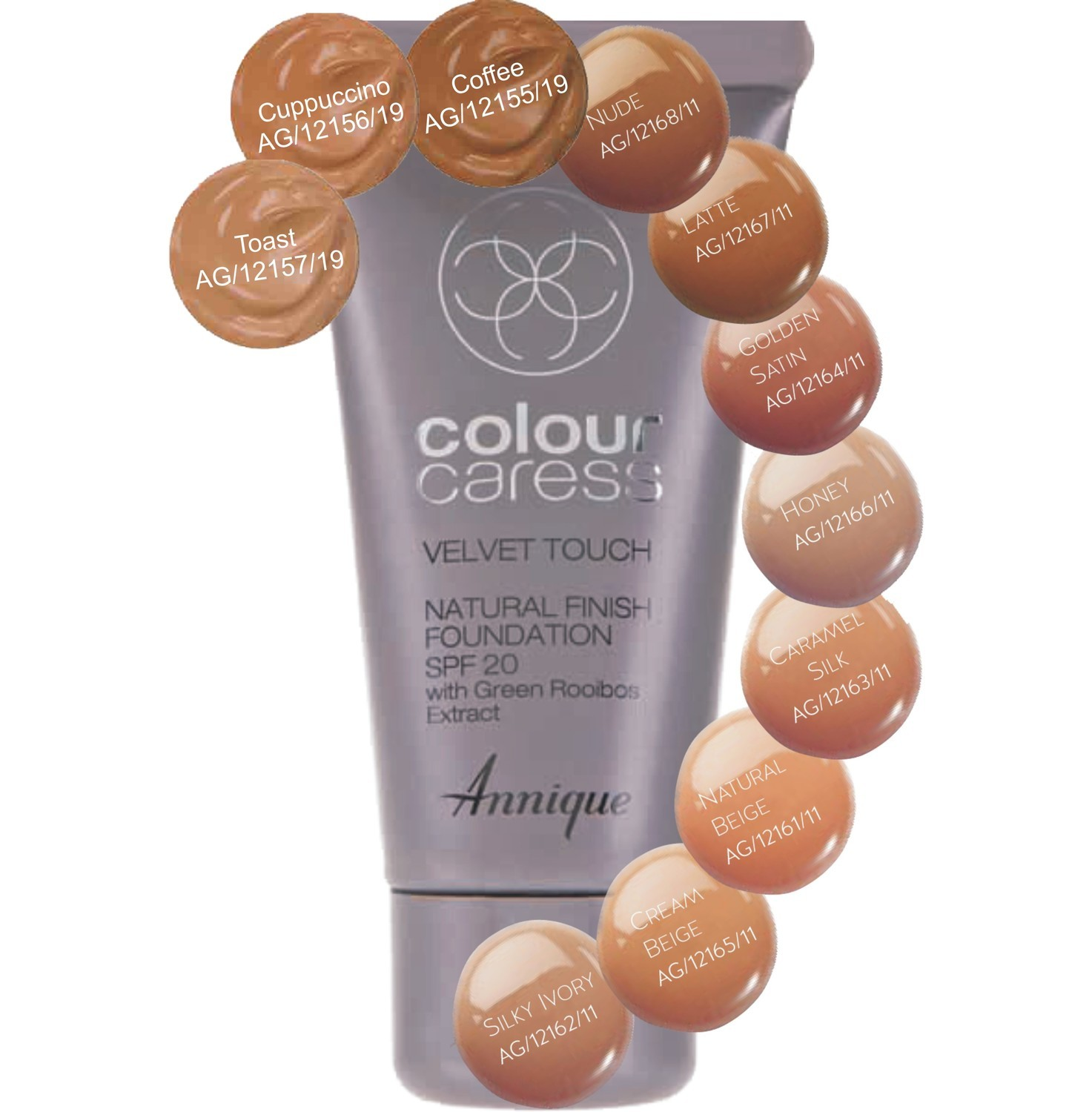 Annique Velvet Touch Natural Finish SPF20 30ml