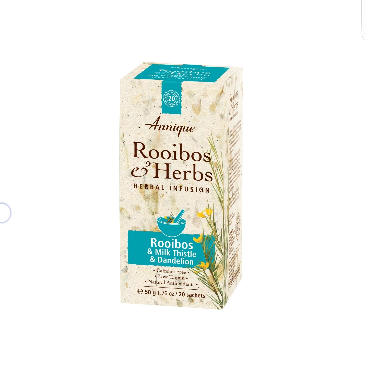 Annique Rooibos & Milk Thistle & Dandelion Tea (Previous Liver Cleanse Rooibos Tea) 50g | 20 bags