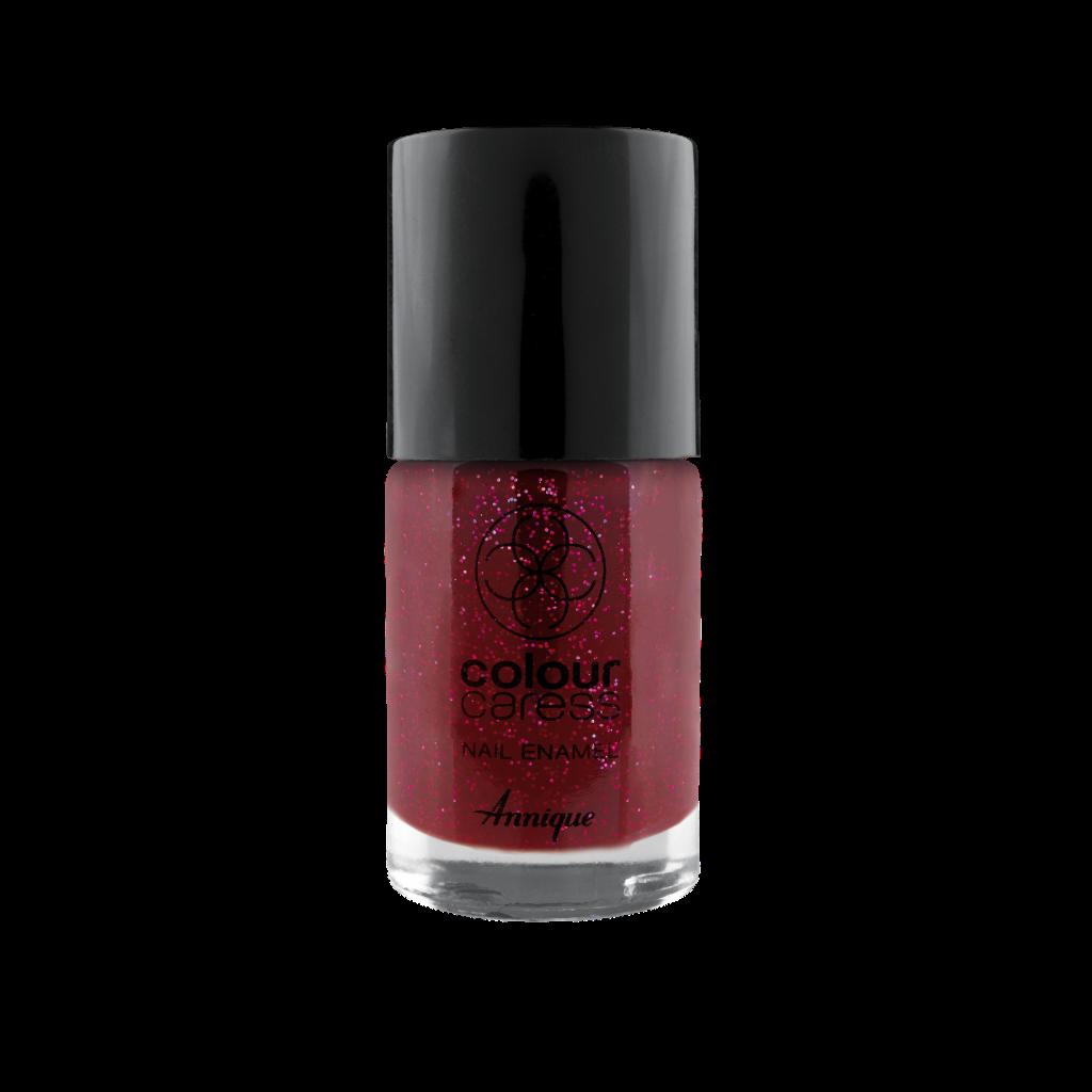 Annique Colour Caress Glitter Red Nail Enamel 10ml