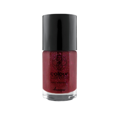 Annique Colour Caress Glitter Red Nail Enamel 10ml