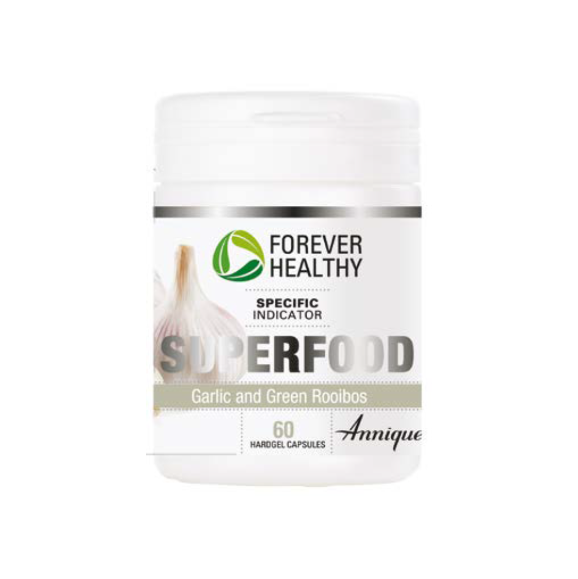Annique Forever Healthy Superfood Odourless Garlic and Green Rooibos 30 Hardgel Capsules