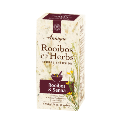 Annique Rooibos Senna Tea (Previously Colon Cleanse Tea with Sennae Folium) Herbal Tea 50g | 20 Bags