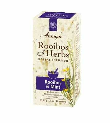 Annique Rooibos & Mint (Previously Stomach Tea - Rooibos with Mentha Longifolia) Herbal Tea 50g | 20 Bags [Get One Free Tea]