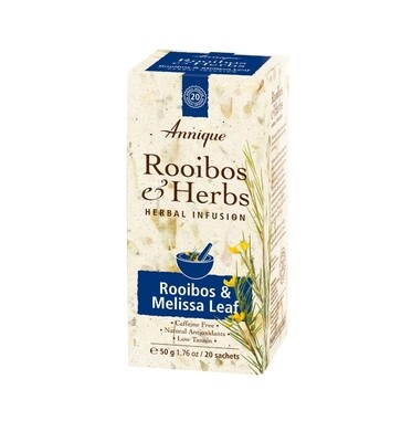 Annique Rooibos & Melissa Leaf Tea (Previous Night Rest Tea - Rooibos with Melissae Folium) Herbal Tea 50g | 20 Bags [Get 1 Free Tea]