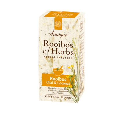 ​Annique's Rooibos, Chai & Coconut Tea 50g (20 bags)