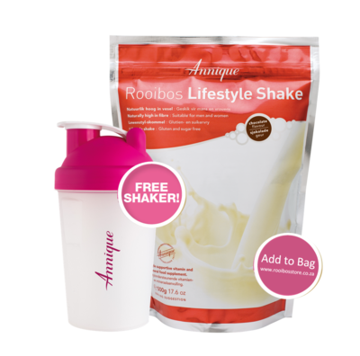 Annique Chocolate Lifestyle Shake 500g with FREE Annique Branded Shaker 400ml worth R99