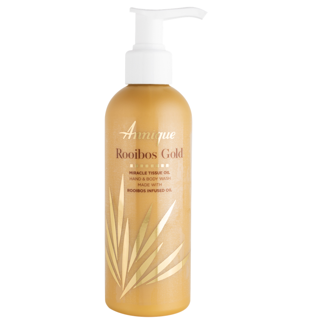 Annique Rooibos Gold Miracle Tissue Oil Gold Hand and Body Wash 200ml
