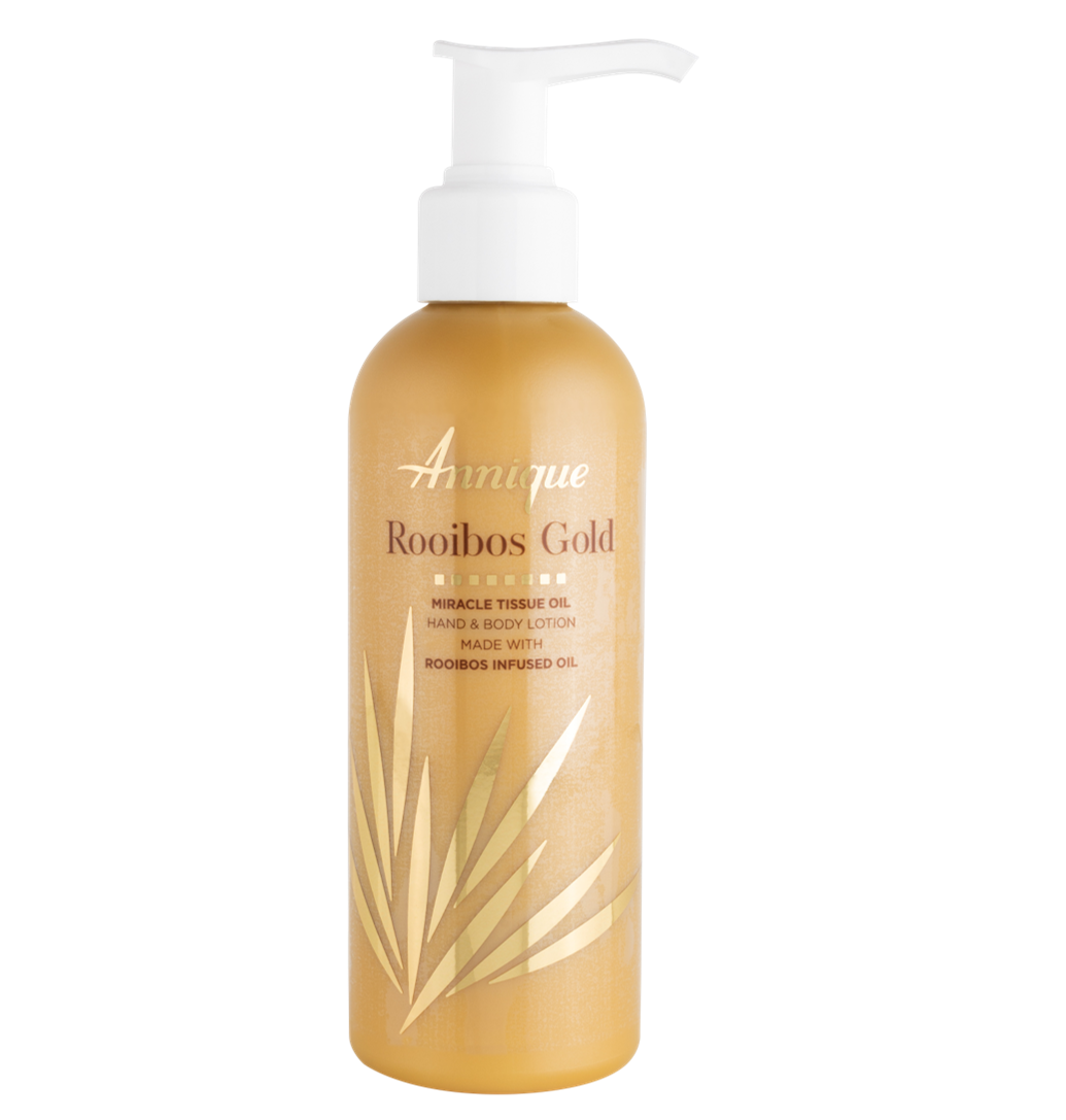 Annique Rooibos Gold Miracle Tissue Oil Gold Hand and Body Lotion 200ml