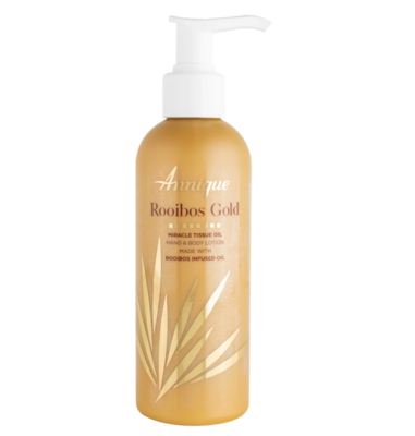 ​Annique Rooibos Gold Miracle Tissue Oil Gold Hand and Body Lotion 200ml