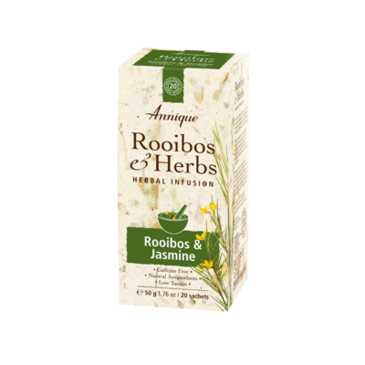 Annique Rooibos and Jasmine Tea (Previous Annique Relax Tea - Rooibos with Wild Jasmine) Herbal Tea 50g | 20 Bags