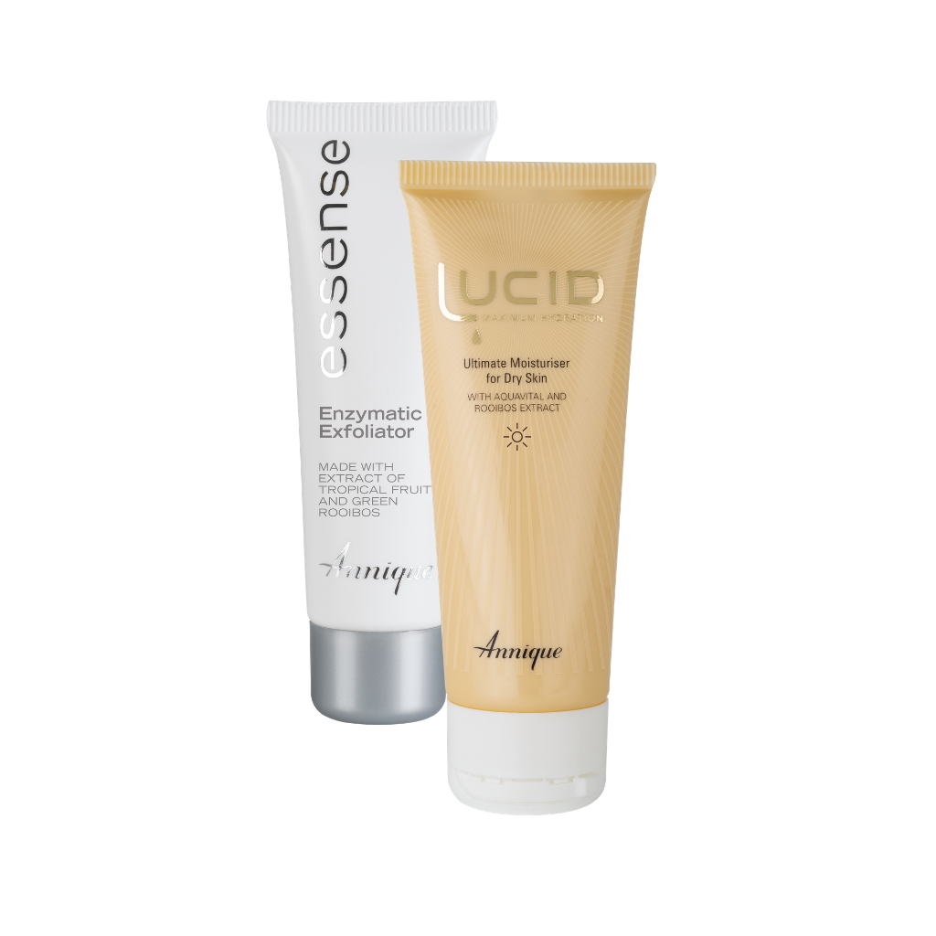 Annique Lucid Ultimate Moisturiser for Dry Skin 75ml UPSIZE with free Essence Enzymatic Exfoliator 50ml worth R249