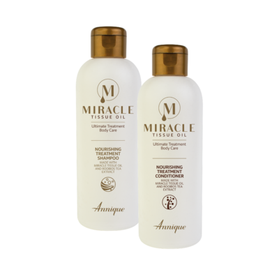 Both Annique Miracle Tissue Oil Nourishing Treatment Shampoo 250ml and Conditioner 250ml for R179