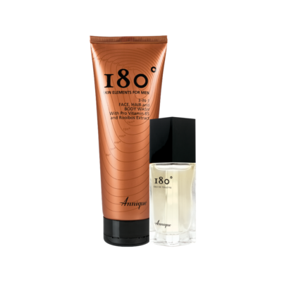 Annique Father's Day Promotion 180° 3-in-1 Face, Hair & Body Wash 250ml with 180 EDT 30ml