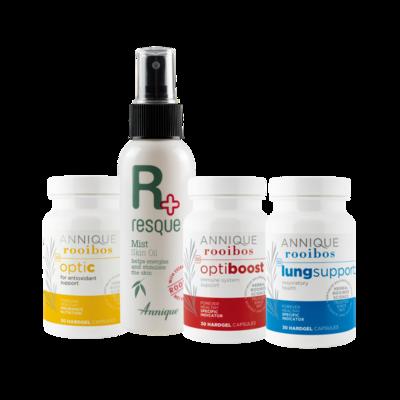 Annique Lung Support + OptiBoost + OptiC + Resque Mist - Immune Support