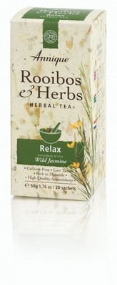 Annique Relax Tea (Rooibos with Wild Jasmine) Herbal Tea 50g | 20 Bags